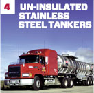 Un-Insulated Stainless Steel Tankers